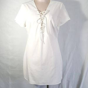 Misguided White Dress Size 8